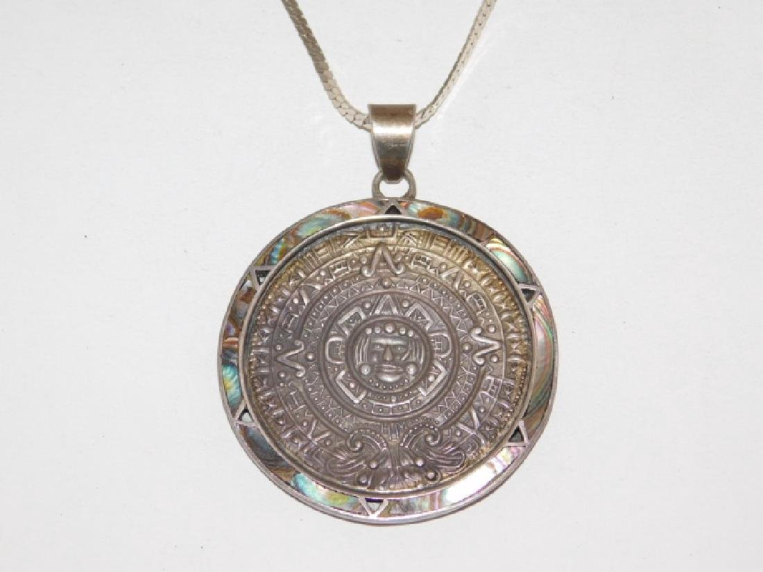MEXICAN STERLING SILVER PENDANT ON CHAIN