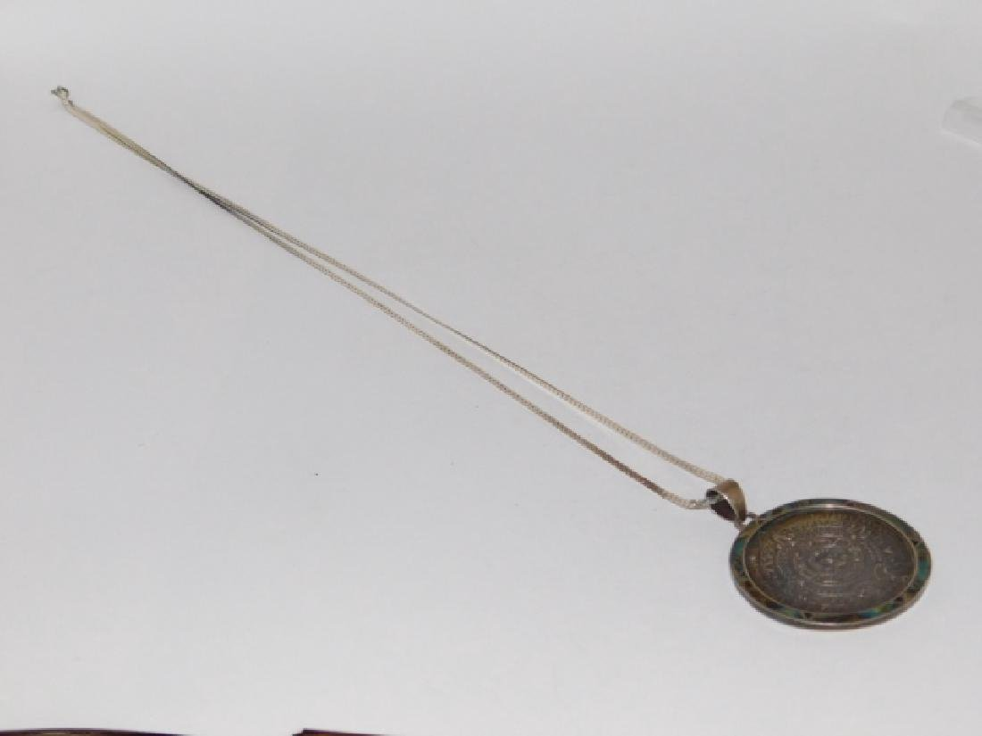 MEXICAN STERLING SILVER PENDANT ON CHAIN - 2