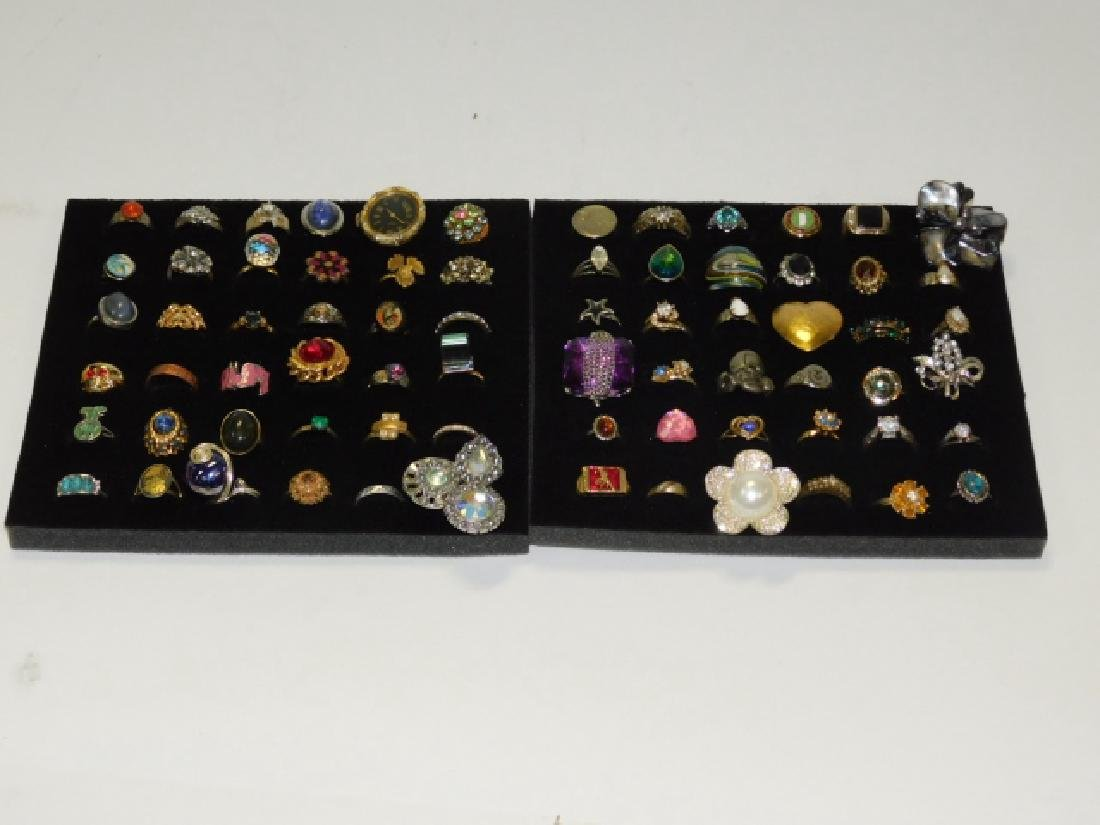 LARGE LOT OF COSTUME RINGS