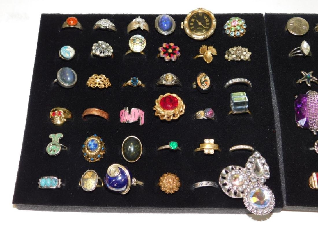 LARGE LOT OF COSTUME RINGS - 3