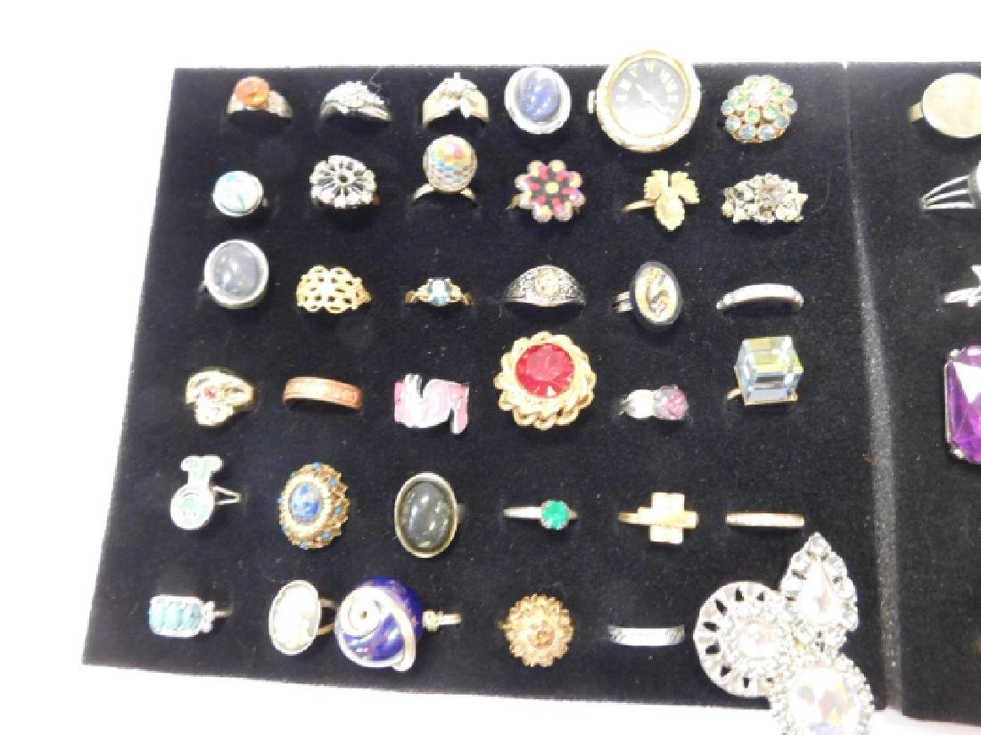 LARGE LOT OF COSTUME RINGS - 5