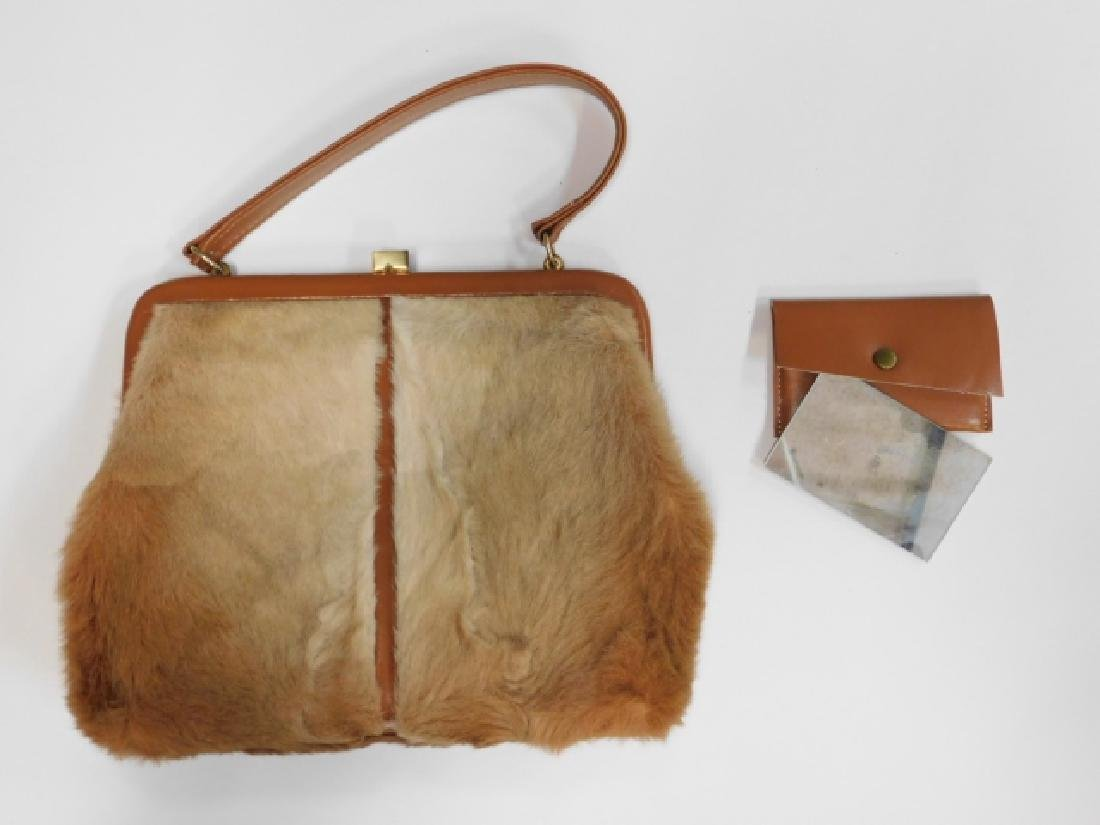 VINTAGE LEE CHAPELLE KANGAROO FUR HANDBAG