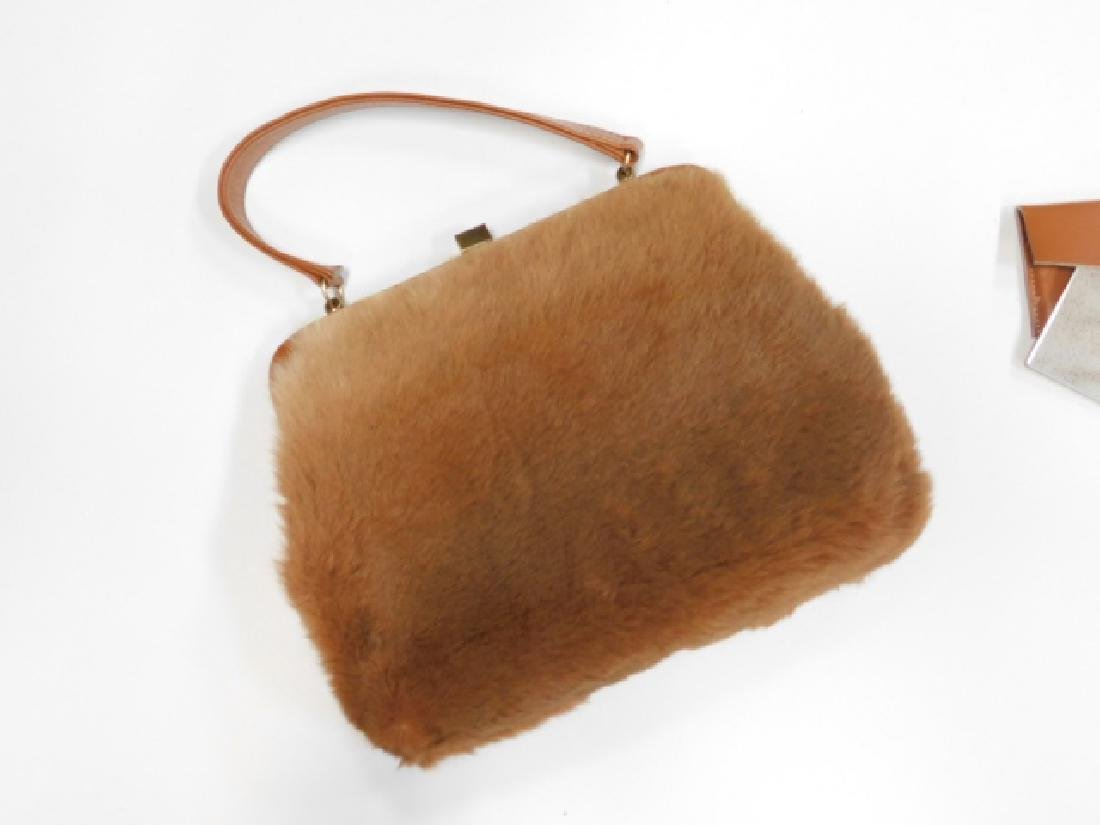 VINTAGE LEE CHAPELLE KANGAROO FUR HANDBAG - 4