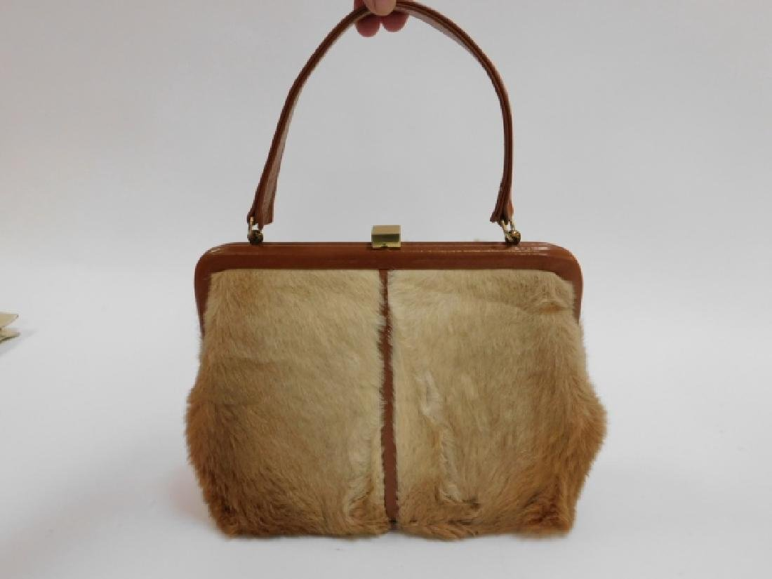 VINTAGE LEE CHAPELLE KANGAROO FUR HANDBAG - 7
