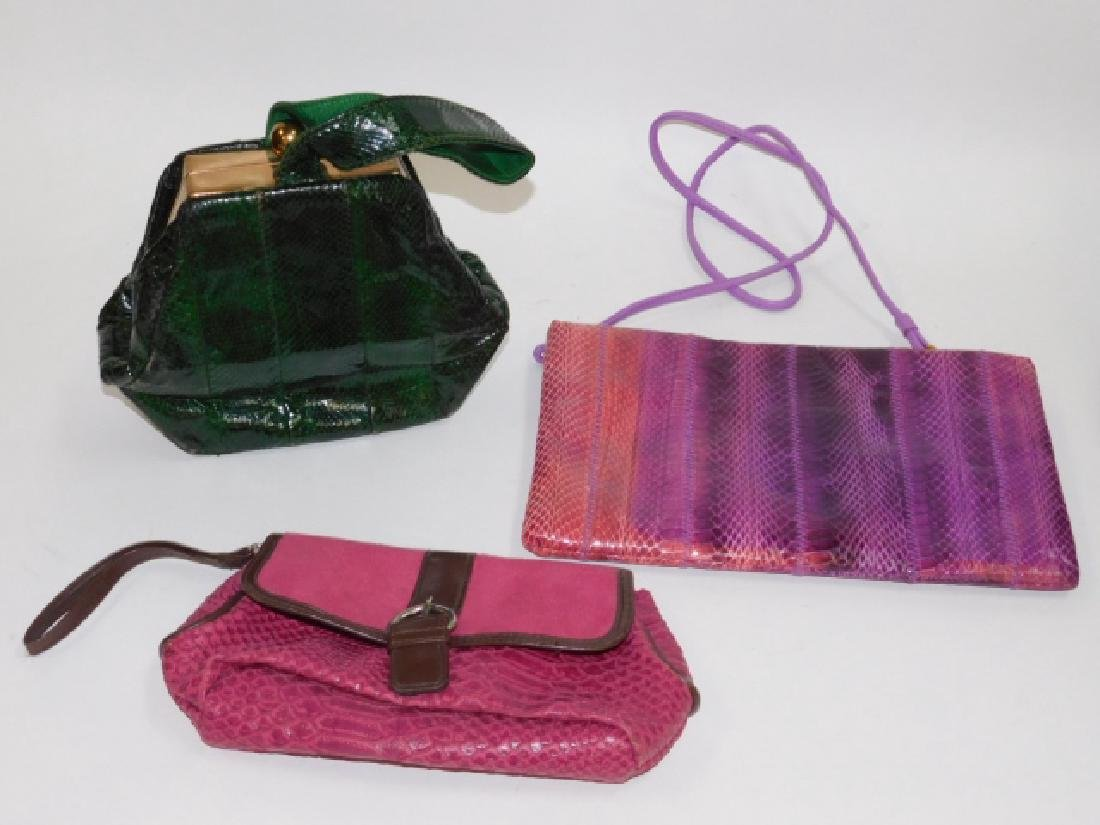 TWO PURSES AND HAND BAG