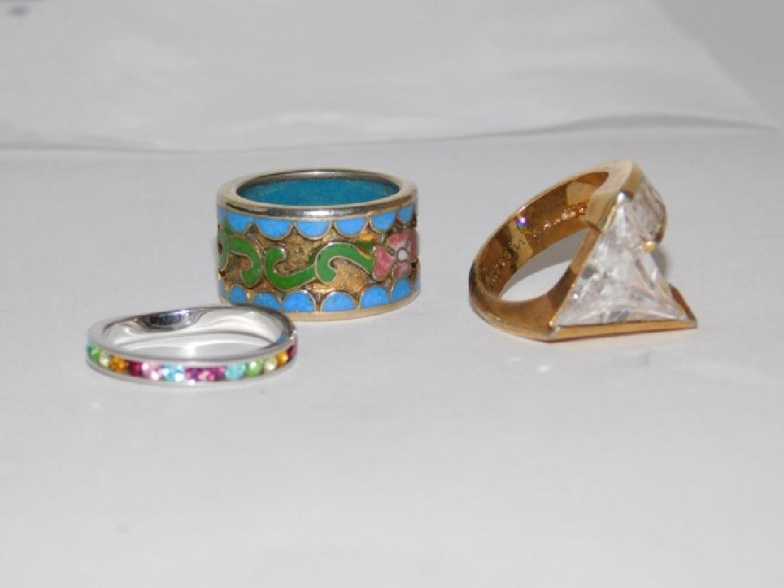 THREE STERLING SILVER RINGS - 2