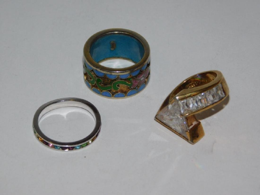 THREE STERLING SILVER RINGS - 3