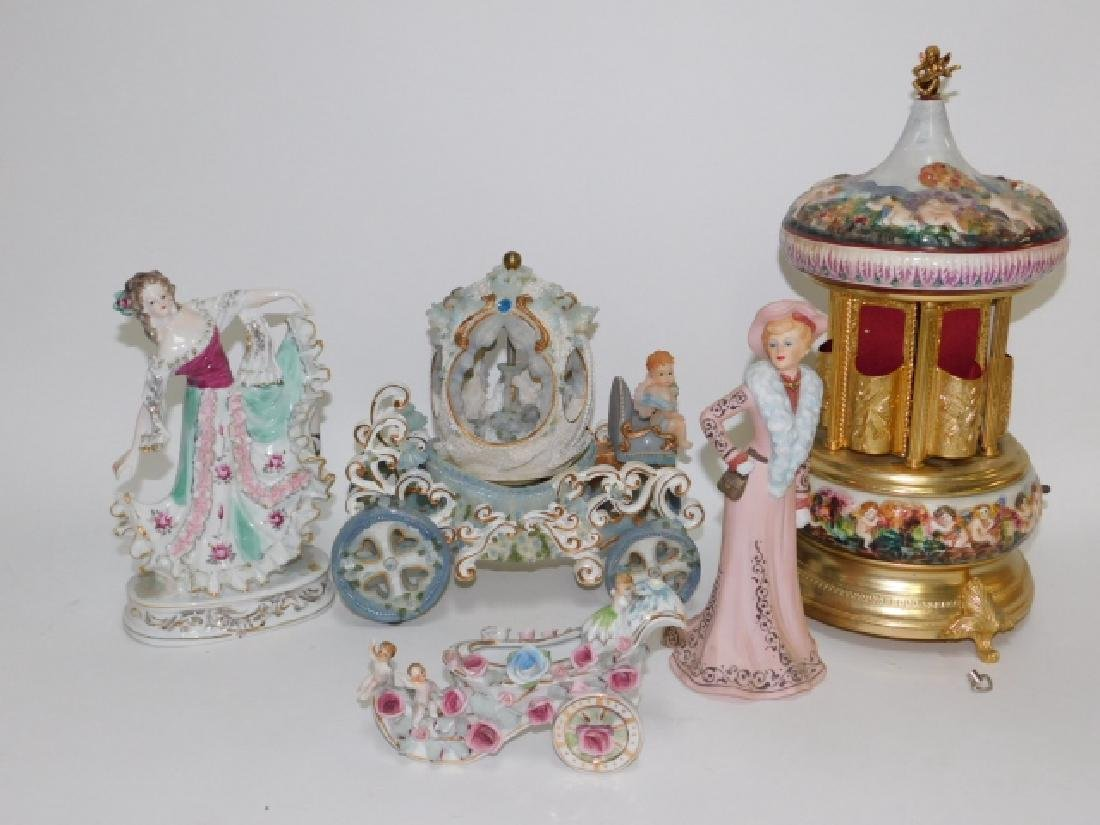 LOT OF FIGURES, MUSIC BOX, AND MORE.