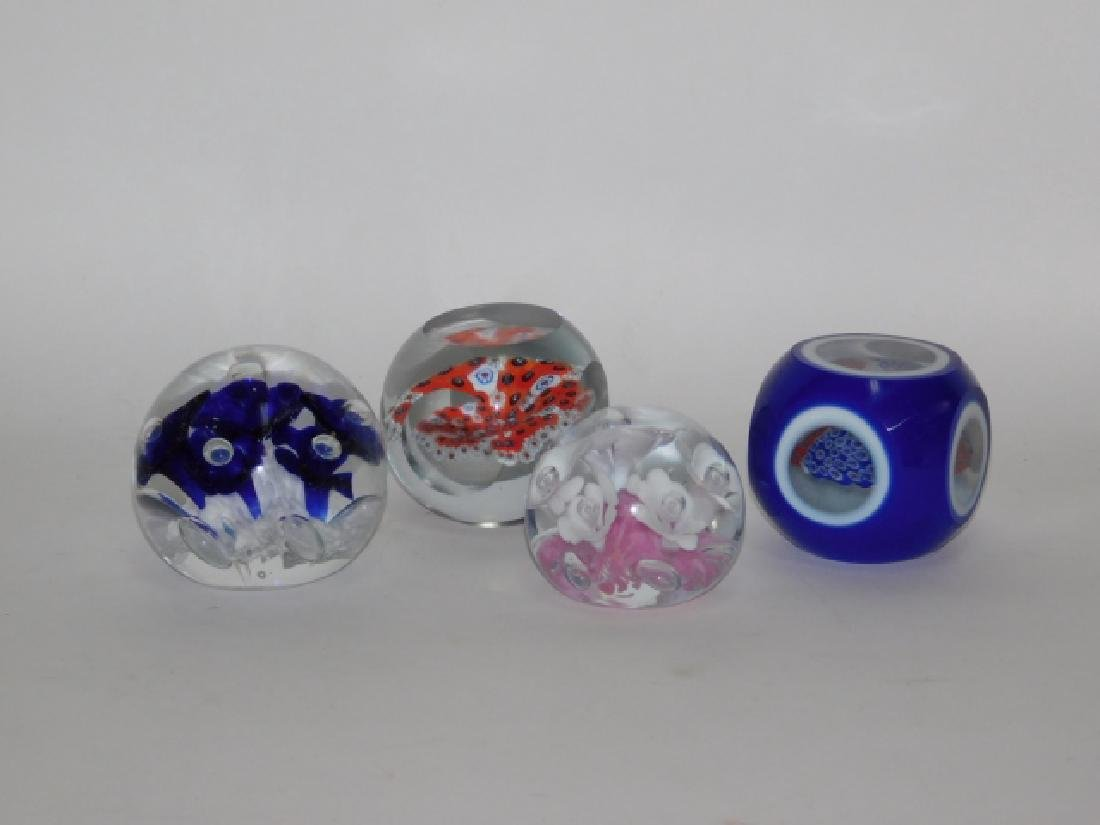 FOUR PAPERWEIGHTS