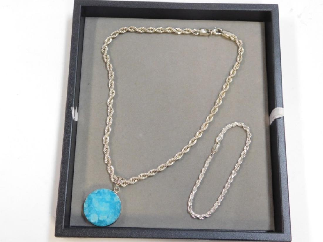 STERLING SILVER NECKLACE WITH BRACELET