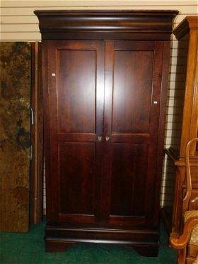 Pair Drexel Travis Court Mahogany Corner Cabinets