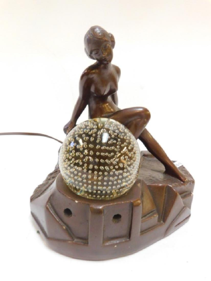 CHALK NUDE FIGURAL LAMP
