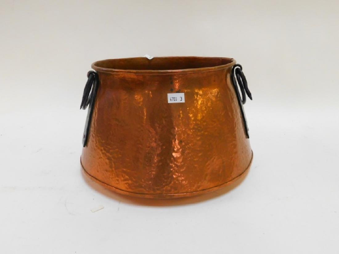 HAND HAMMERED COPPER POT