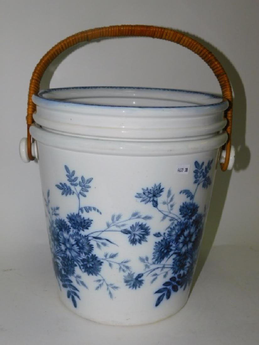 BLUE AND WHITE CHAMBER POT