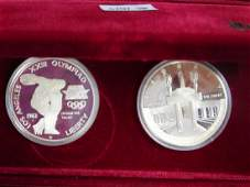 1986 LOS ANGELES OLYMPIC PROOF COIN SET
