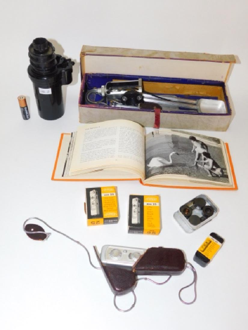 MINOX SUBMINIATURE SPY CAMERA AND GEAR.