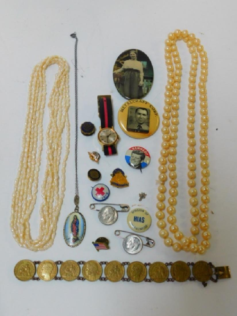 COLLECTION OF JEWELRY AND PINS