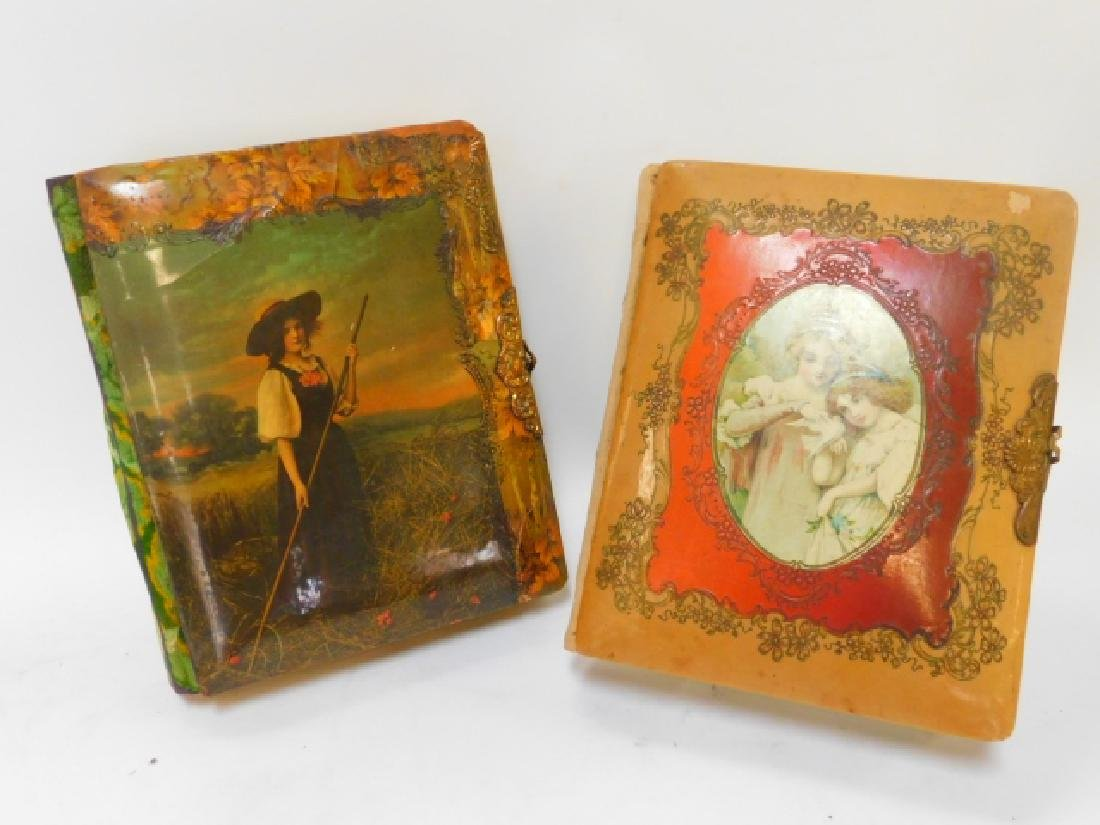 TWO CELLULOID PHOTO ALBUM