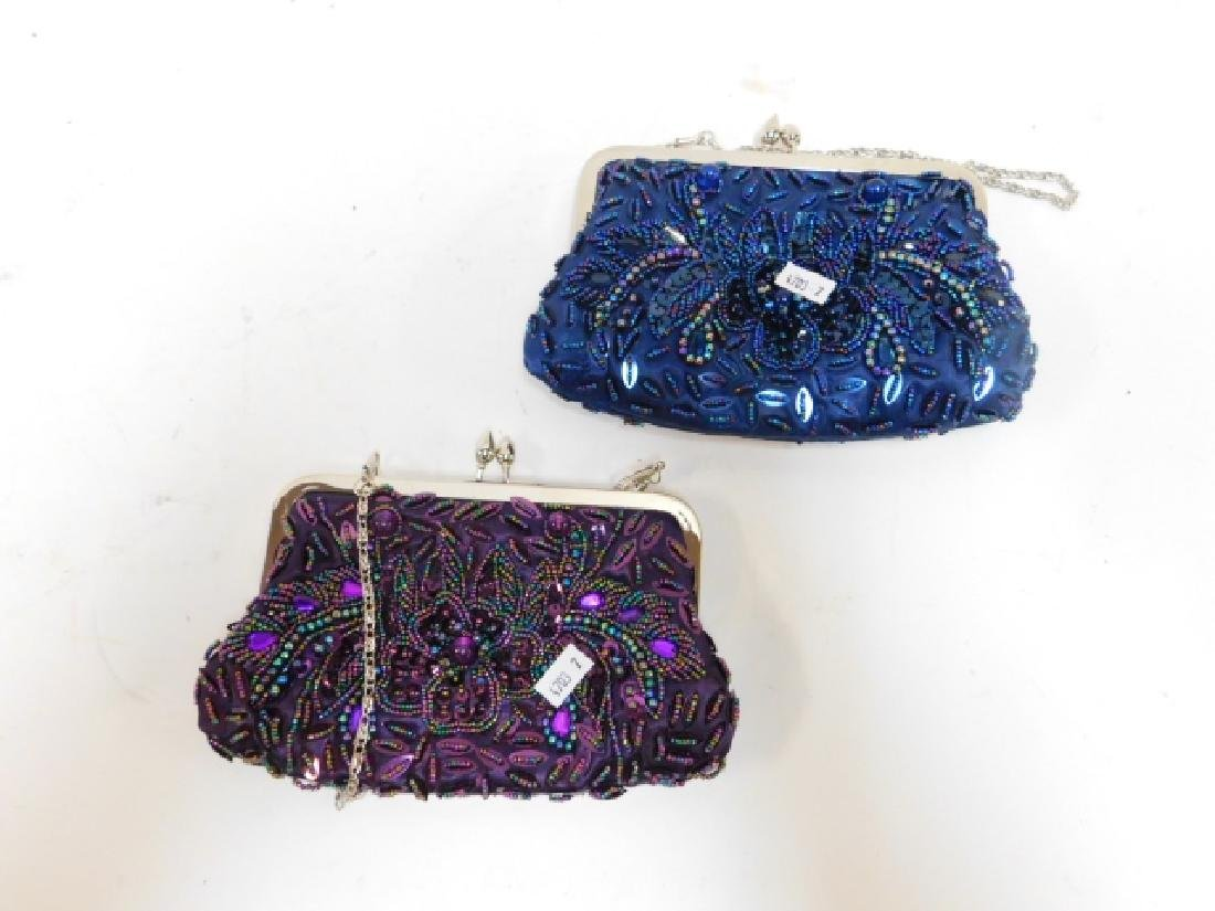 TWO BEADED PURSES