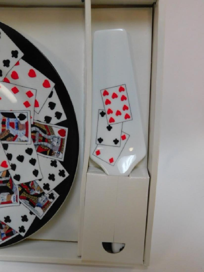 COLLECTION OF CARD THEMED DISHES AND DECORATIONS - 4