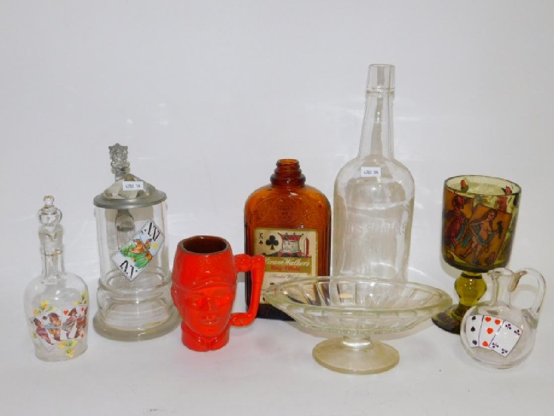 COLLECTION OF PLAYING CARD THEMED BOTTLES