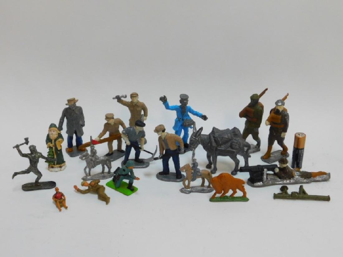 COLLECTION OF LEAD SOLDIERS, FIGURES, AND ANIMALS