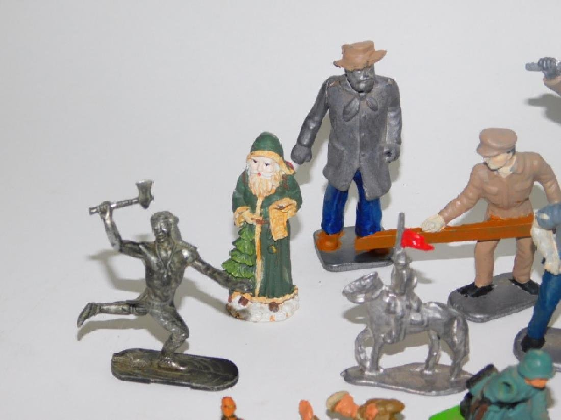 COLLECTION OF LEAD SOLDIERS, FIGURES, AND ANIMALS - 4