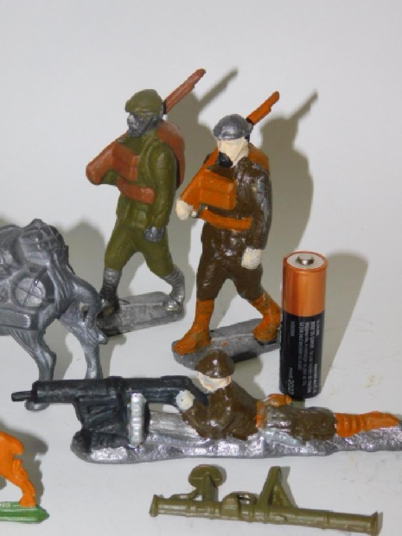 COLLECTION OF LEAD SOLDIERS, FIGURES, AND ANIMALS - 5
