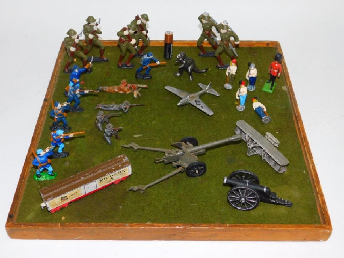 COLLECTION OF LEAD SOLDIERS, FIGURES, & MORE
