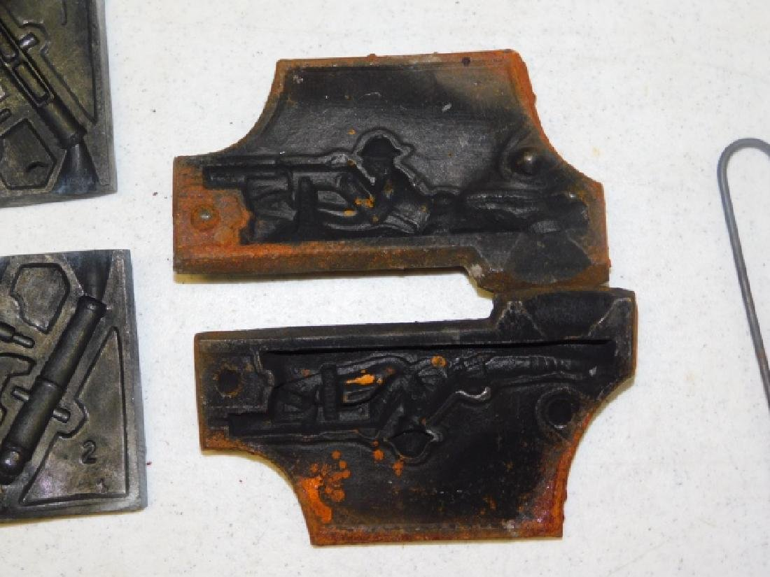 LEAD SOLDIER MOLDS - 6