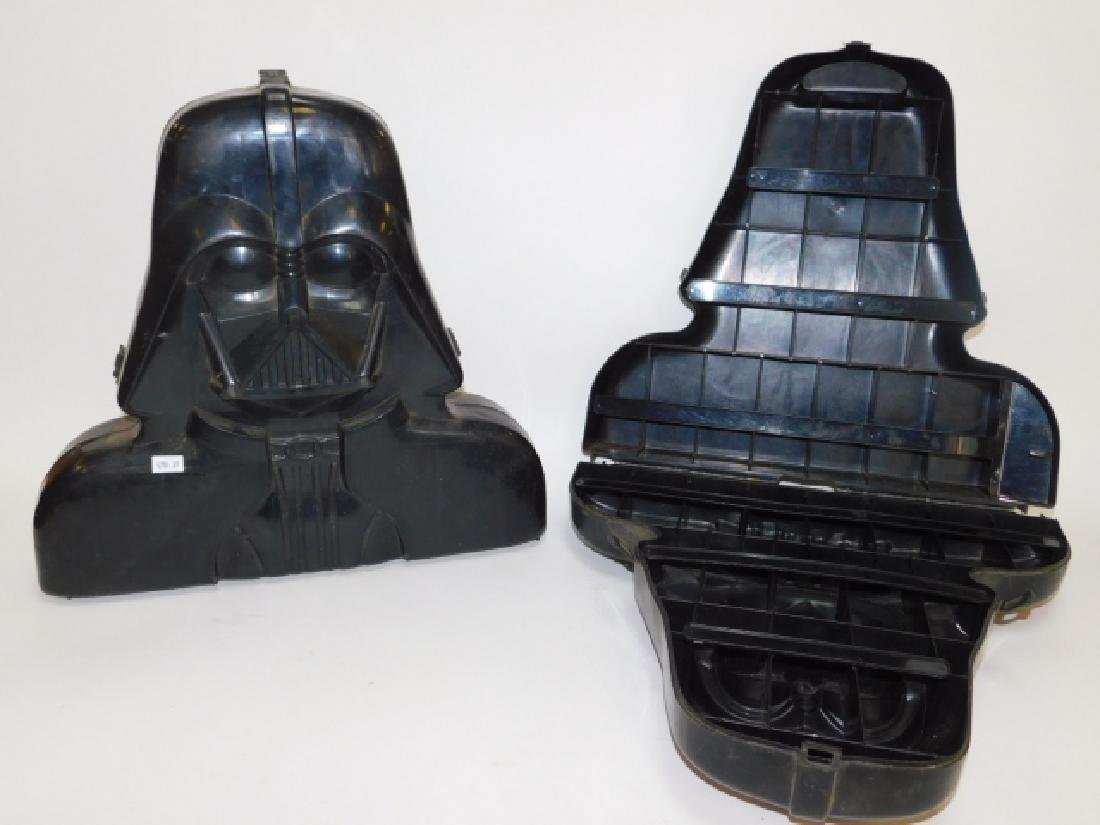 TWO DARTH VADER ACTION FIGURE CARRYING CASE