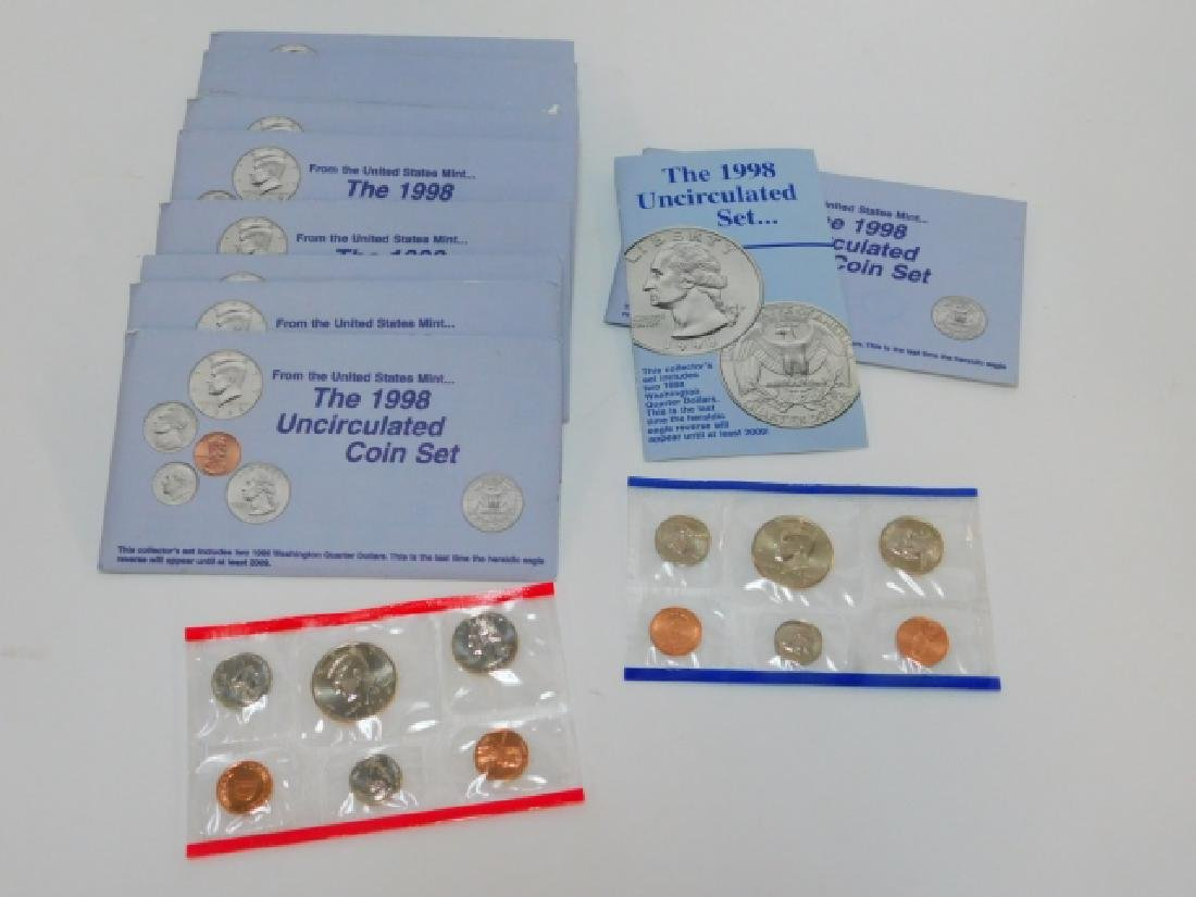 TEN 1998 UNCIRCULATED COIN SET'S