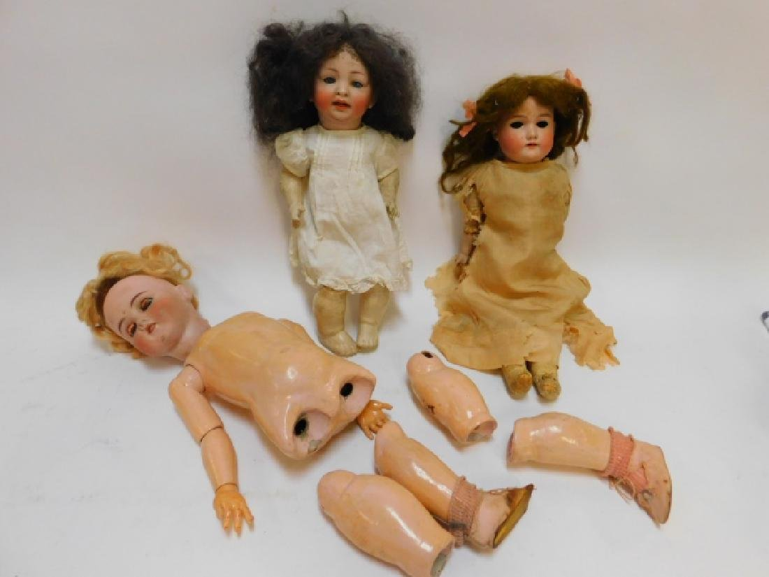 COLLECTION OF GERMAN PORCELAIN DOLLS AND MORE