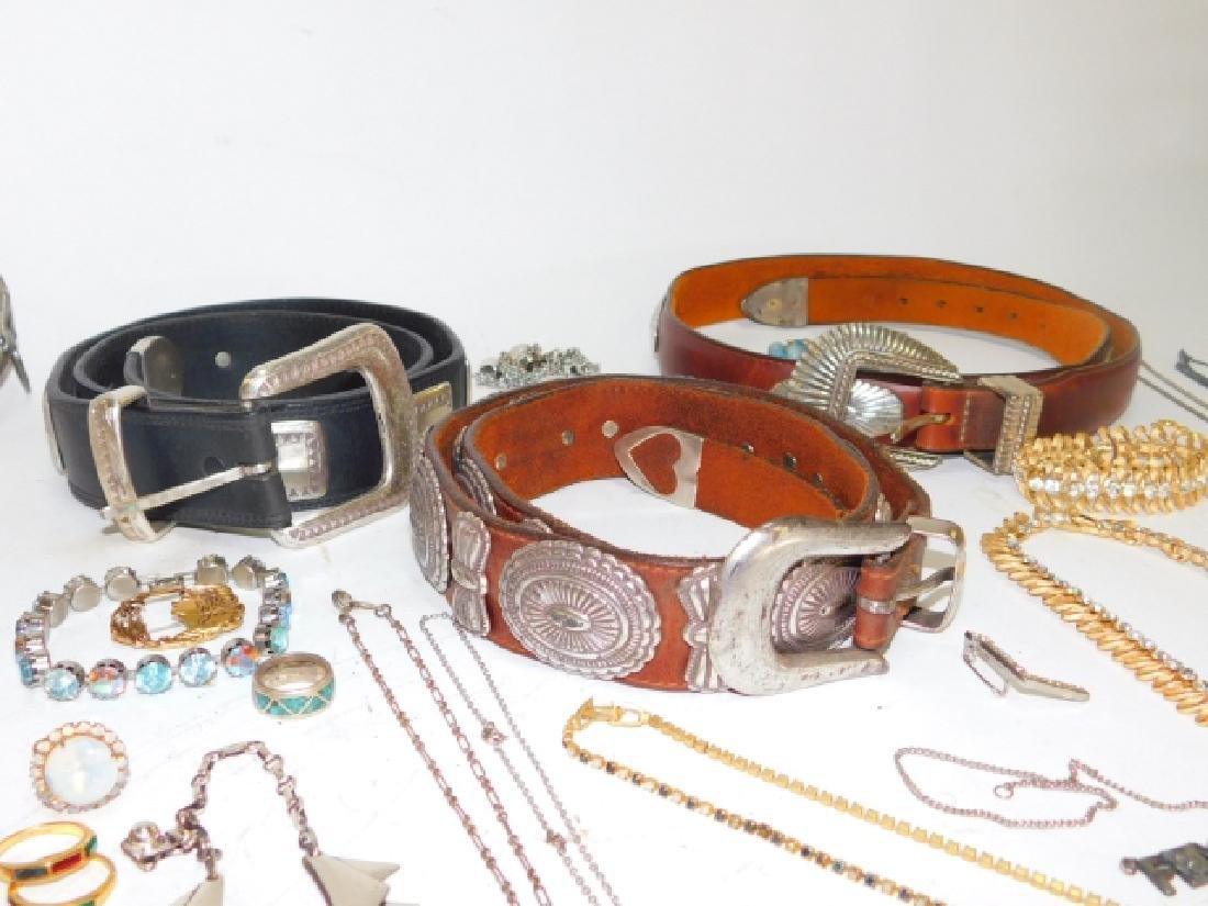 LOT OF COSTUME JEWELRY AND BELTS - 2