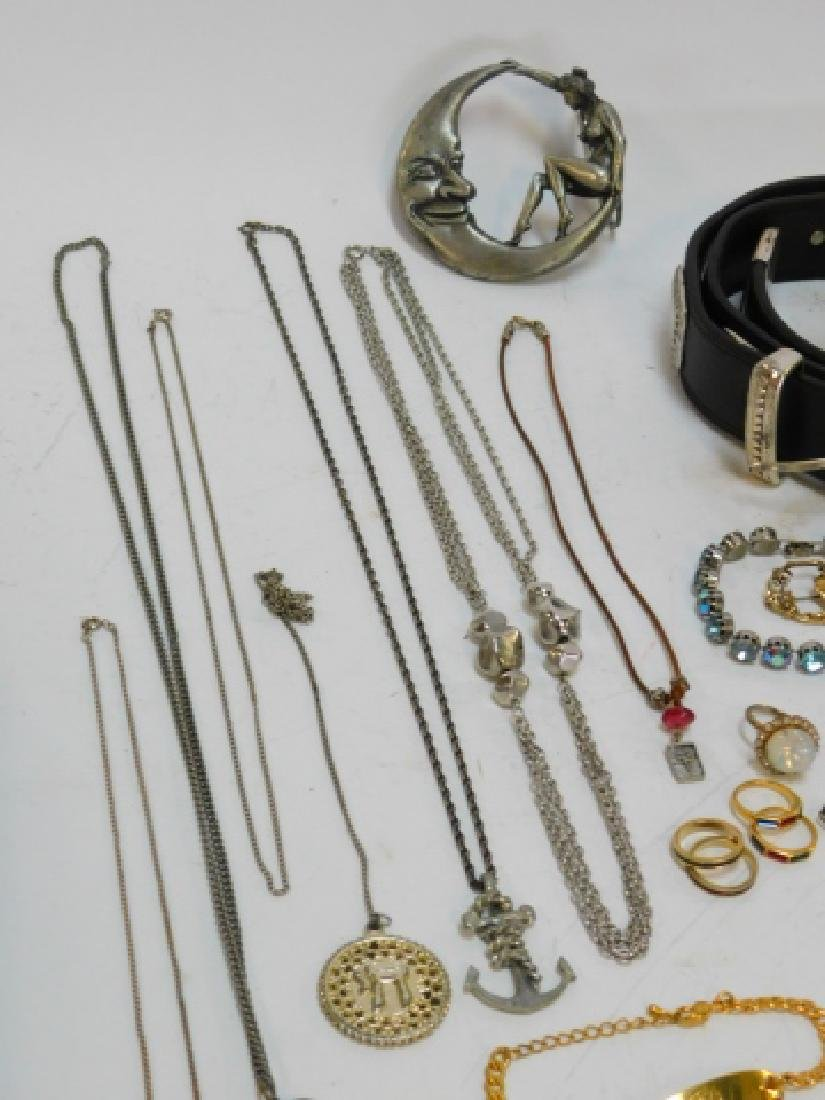 LOT OF COSTUME JEWELRY AND BELTS - 6