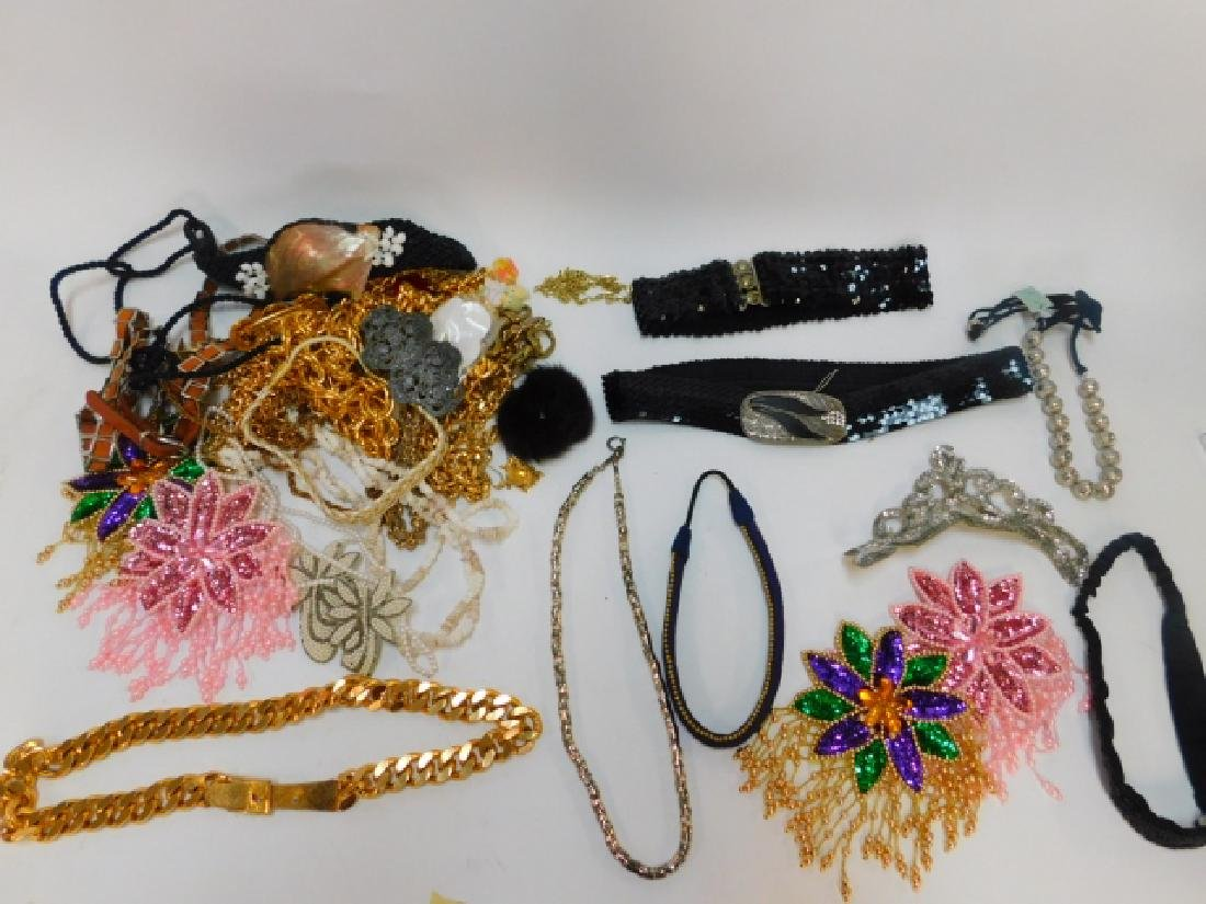 LARGE LOT COSTUME JEWELRY AND ACCESSORIES