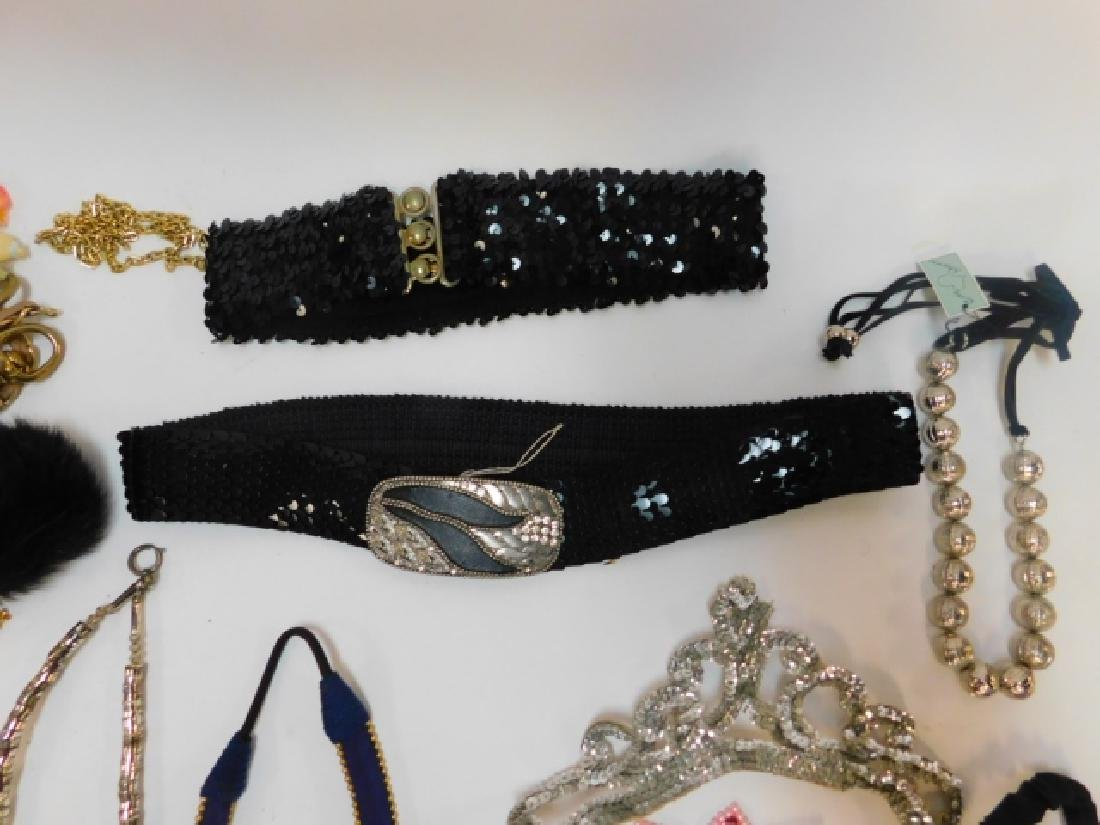 LARGE LOT COSTUME JEWELRY AND ACCESSORIES - 3
