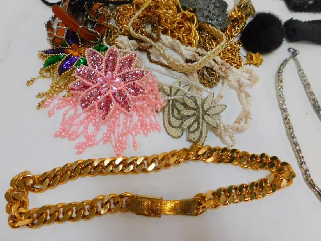 LARGE LOT COSTUME JEWELRY AND ACCESSORIES - 4