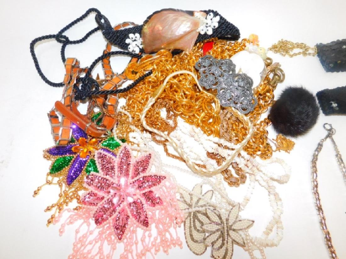 LARGE LOT COSTUME JEWELRY AND ACCESSORIES - 5