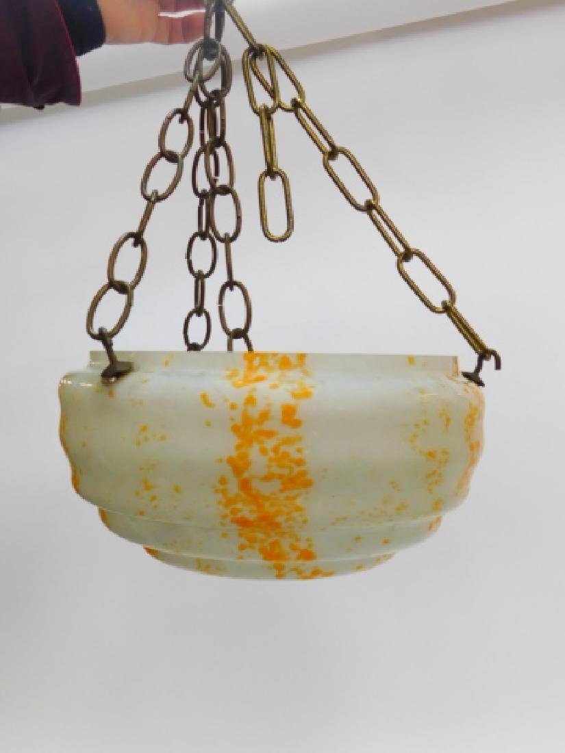FRENCH ART GLASS HANGING FIXTURE