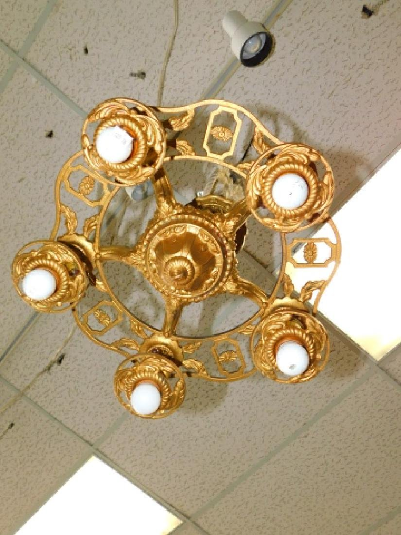 BRONZE 5-LIGHT HANGING FIXTURE