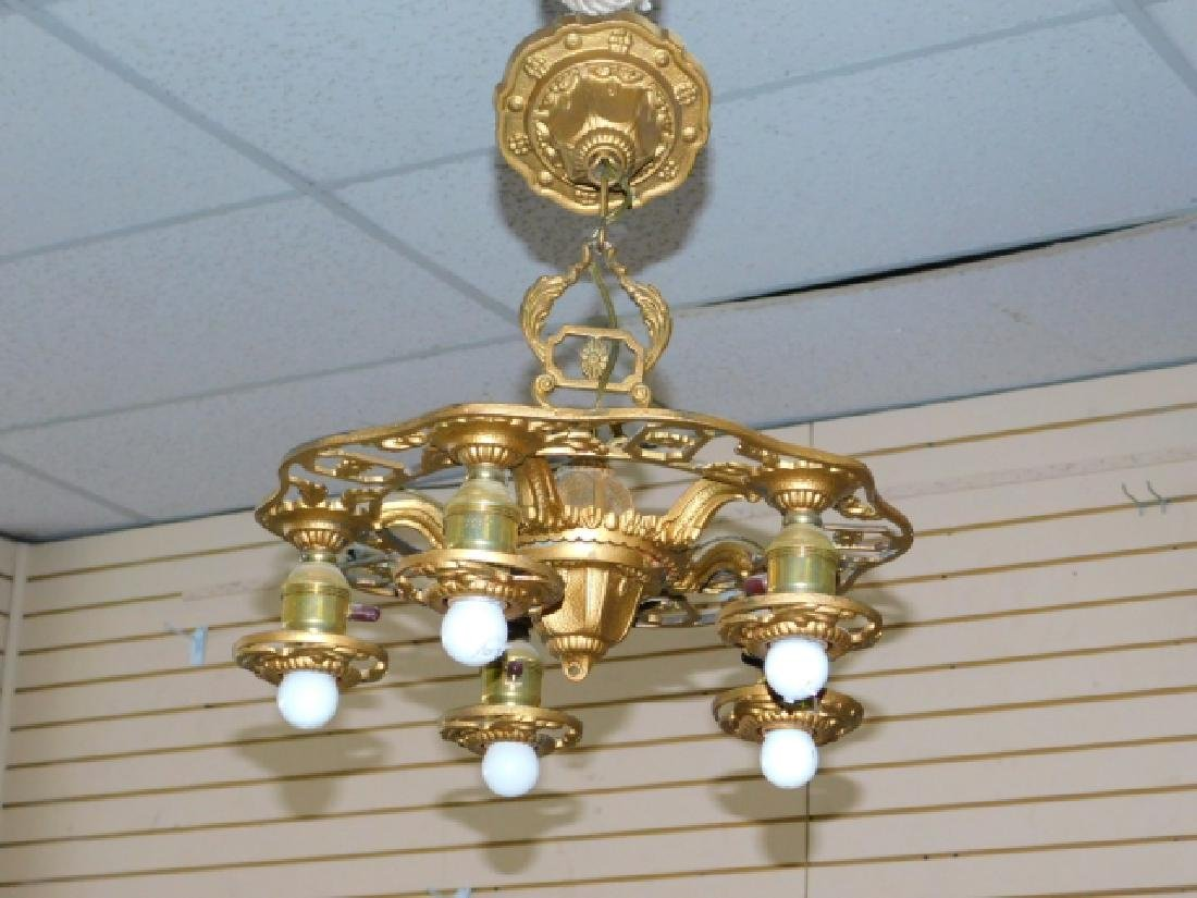 BRONZE 5-LIGHT HANGING FIXTURE - 2