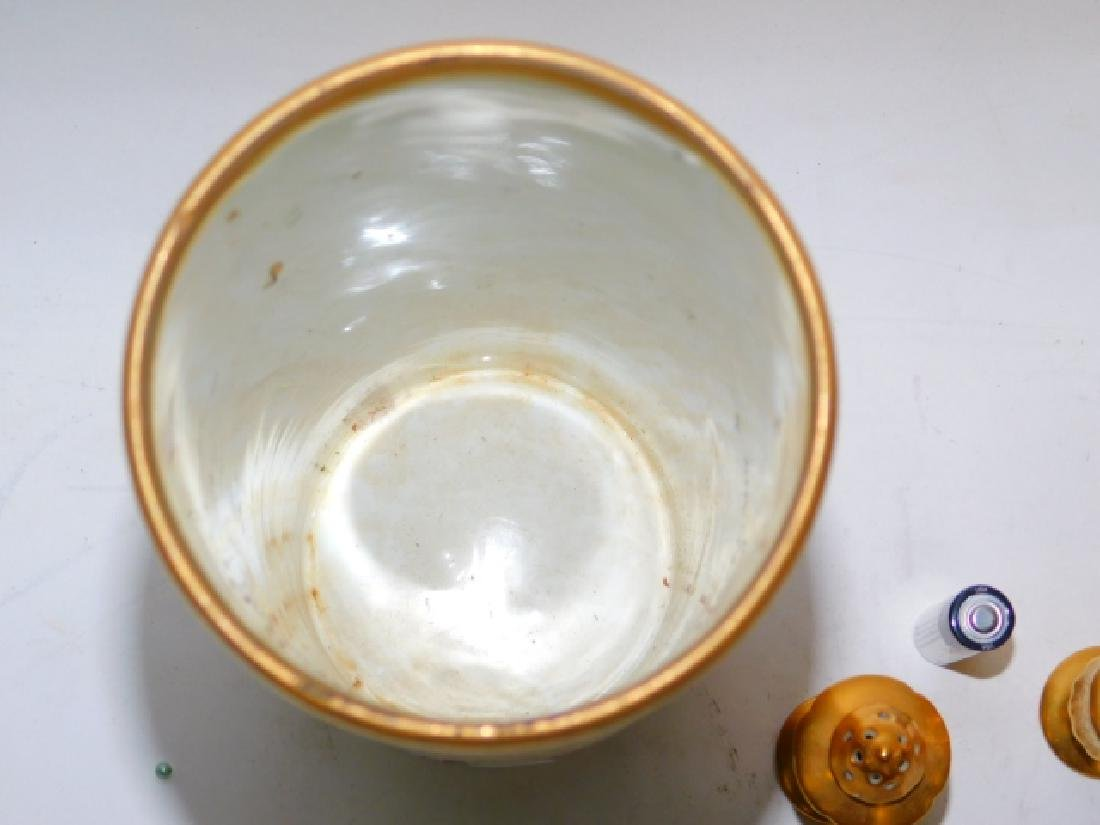 PORCELAIN PAINTED DISHES - 7