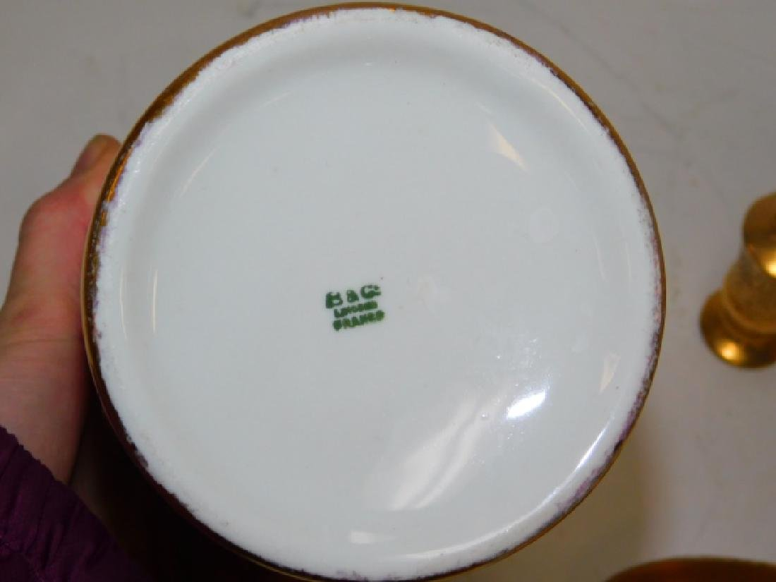 PORCELAIN PAINTED DISHES - 8