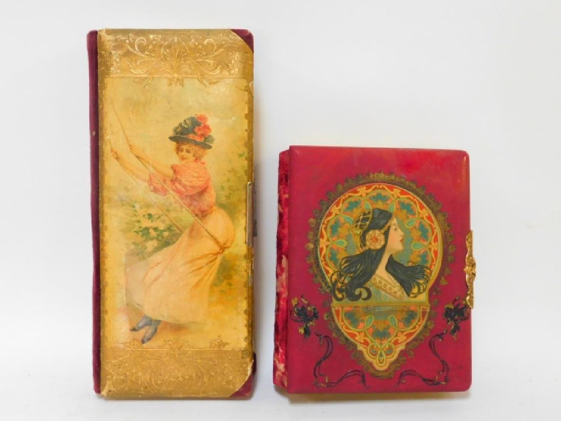 TWO CELLULOID PHOTO ALBUMS