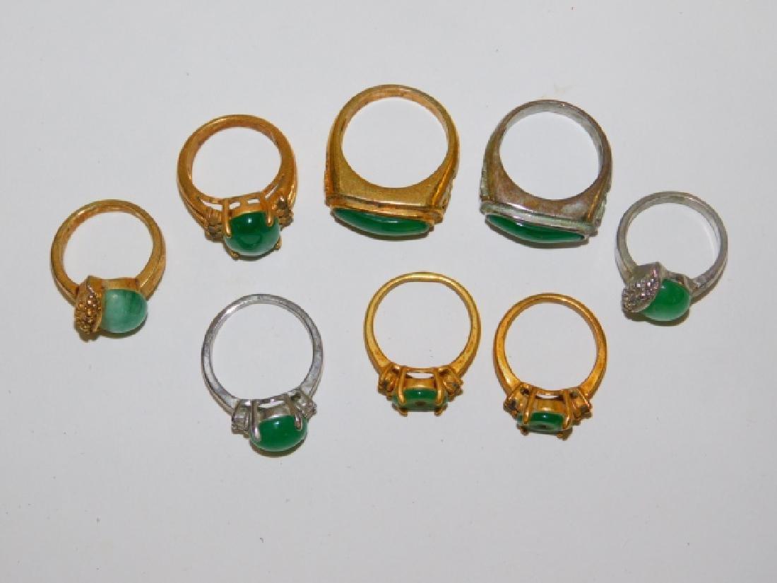 EIGHT COSTUME RINGS - 2