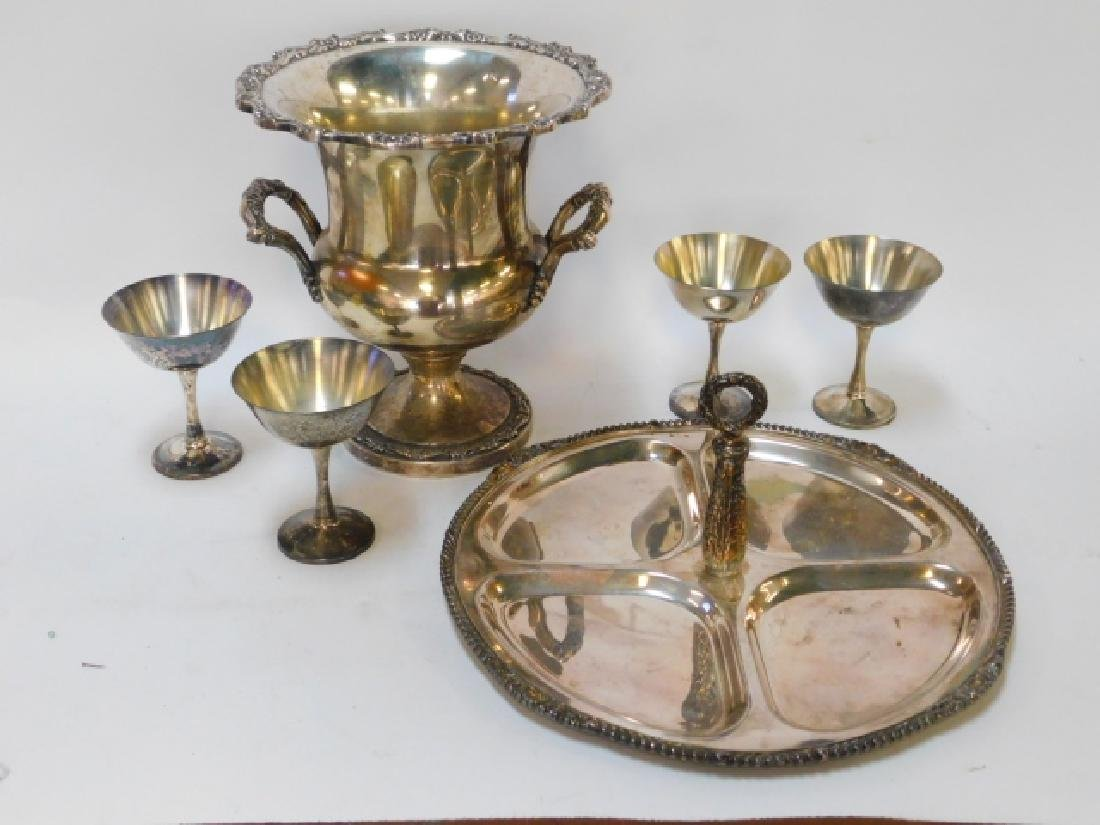 COLLECTION OF SILVER PLATE DISHES