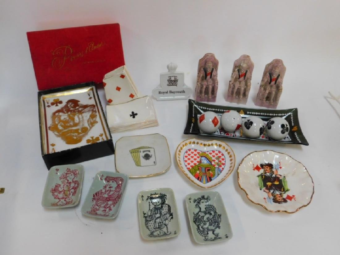 COLLECTION OF PLAYING CARD DISHES