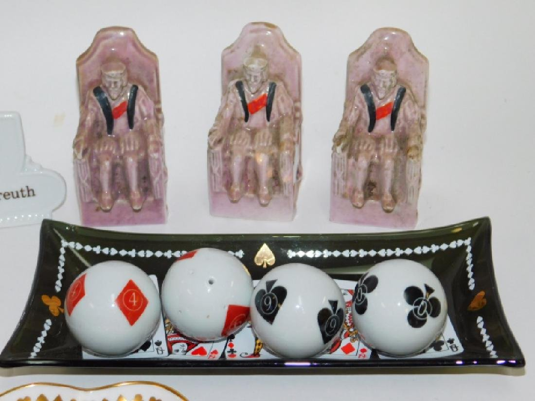 COLLECTION OF PLAYING CARD DISHES - 2