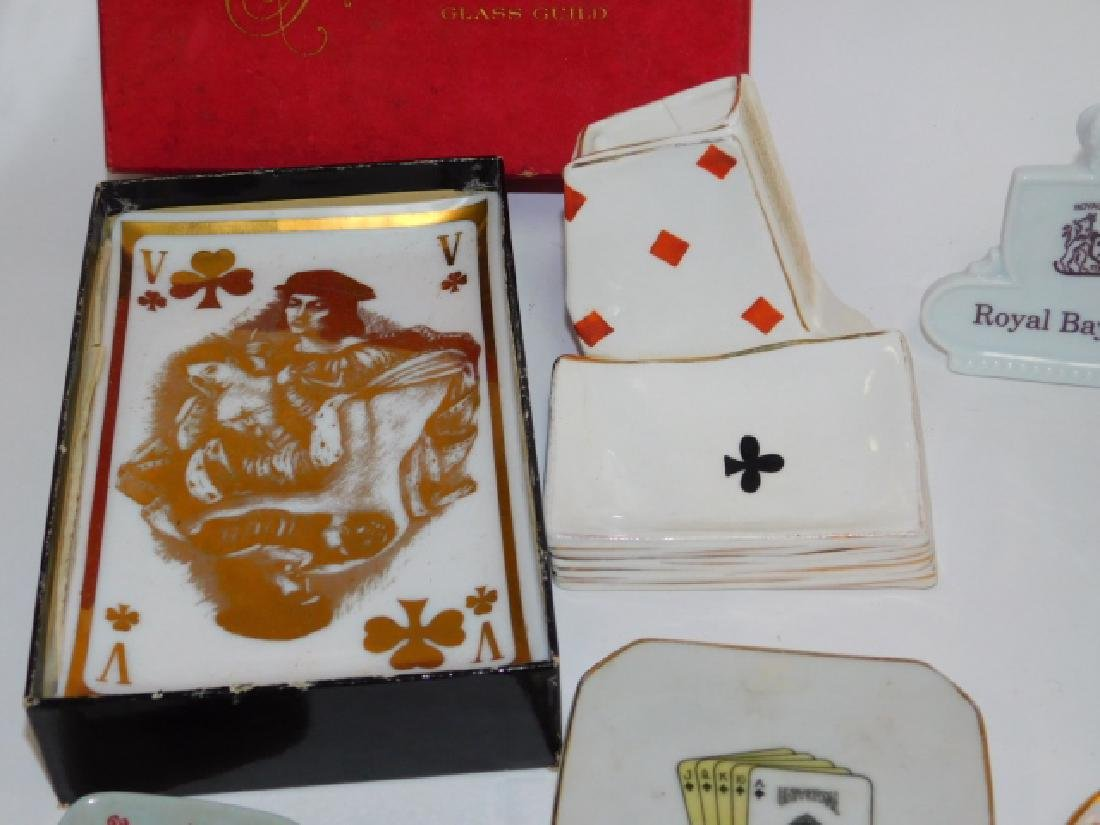 COLLECTION OF PLAYING CARD DISHES - 3